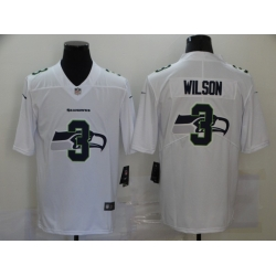 Nike Seattle Seahawks 3 Russell Wilson White Shadow Logo Limited Jersey