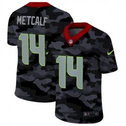 Seattle Seahawks 14 DK Metcalf Men Nike 2020 Black CAMO Vapor Untouchable Limited Stitched NFL Jersey