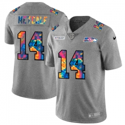 Seattle Seahawks 14 DK Metcalf Men Nike Multi Color 2020 NFL Crucial Catch NFL Jersey Greyheather