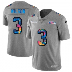Seattle Seahawks 3 Russell Wilson Men Nike Multi Color 2020 NFL Crucial Catch NFL Jersey Greyheather