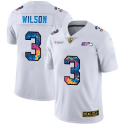 Seattle Seahawks 3 Russell Wilson Men White Nike Multi Color 2020 NFL Crucial Catch Limited NFL Jersey