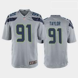 men darrell taylor seattle seahawks gray game jersey