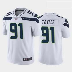 men darrell taylor seattle seahawks white vapor limited jersey
