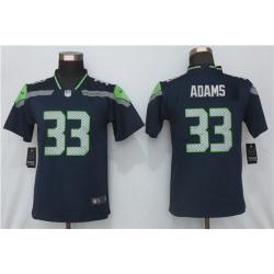 Women Nike Seattle Seahawks 33 Jamal Adams Blue 2020 Vapor Untouchable Jersey