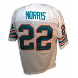 Men Mercury Morris Miami Dolphins White Throwback Football Jersey