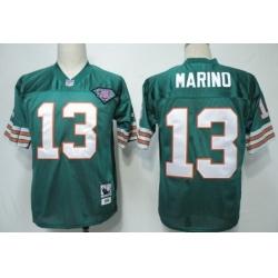 Men Miami Dolphins #13 Dan Marino Green 75TH Throwback Jersey