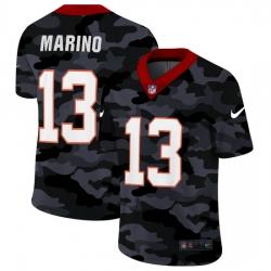 Miami Dolphins 13 Dan Marino Men Nike 2020 Black CAMO Vapor Untouchable Limited Stitched NFL Jersey