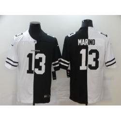 Nike Dolphins 13 Dan Marino Black And White Split Vapor Untouchable Limited Jersey