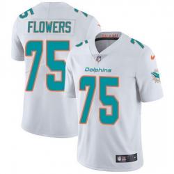 Nike Dolphins 75 Ereck Flowers White Men Stitched NFL Vapor Untouchable Limited Jersey