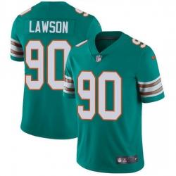 Nike Dolphins 90 Shaq Lawson Aqua Green Alternate Men Stitched NFL Vapor Untouchable Limited Jersey