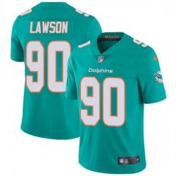 Nike Dolphins 90 Shaq Lawson Aqua Green Team Color Men Stitched NFL Vapor Untouchable Limited Jersey