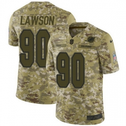 Nike Dolphins 90 Shaq Lawson Camo Men Stitched NFL Limited 2018 Salute To Service Jersey
