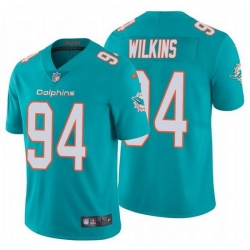 Nike Dolphins 94 Christian Wilkins Aqua Vapor Untouchable Limited Jersey