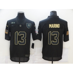 Nike Miami Dolphins 13 Dan Marino Black 2020 Salute To Service Limited Jersey