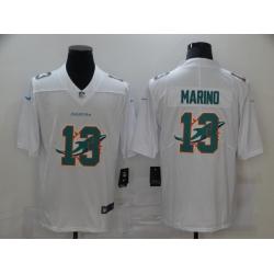 Nike Miami Dolphins 13 Dan Marino White Shadow Logo Limited Jersey