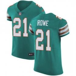Nike Miami Dolphins 21 Eric Rowe Aqua Green Alternate Men Stitched NFL New Elite Jersey