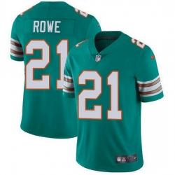 Nike Miami Dolphins 21 Eric Rowe Aqua Green Alternate Men Stitched NFL Vapor Untouchable Limited Jersey