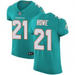 Nike Miami Dolphins 21 Eric Rowe Aqua Green Team Color Men Stitched NFL Vapor Untouchable Elite Jersey