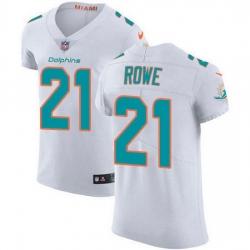 Nike Miami Dolphins 21 Eric Rowe White Men Stitched NFL New Elite Jersey