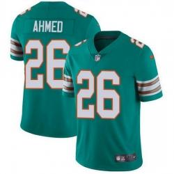 Nike Miami Dolphins 26 Salvon Ahmed Aqua Green Alternate Men Stitched NFL Vapor Untouchable Limited Jersey