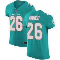 Nike Miami Dolphins 26 Salvon Ahmed Aqua Green Team Color Men Stitched NFL Vapor Untouchable Elite Jersey