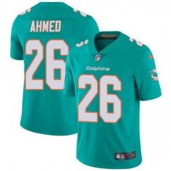 Nike Miami Dolphins 26 Salvon Ahmed Aqua Green Team Color Men Stitched NFL Vapor Untouchable Limited Jersey