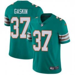 Nike Miami Dolphins 37 Myles Gaskin Aqua Green Alternate Men Stitched NFL Vapor Untouchable Limited Jersey