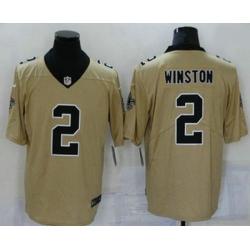 Men New Orleans Saints 2 Jameis Winston Gold 2019 Inverted Legend Stitched NFL Nike Limited Jersey