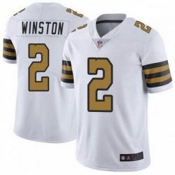 Men New Orleans Saints 2 Jameis Winston White Color Rush Jersey