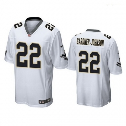 Men New Orleans Saints 22 Chauncey Gardner Johnson 2019 NFL White Vapor Limited Jersey