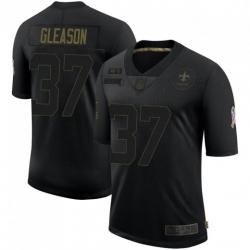 Men New Orleans Saints 37 Steve Gleason Black 2020 Salute To Service Limited Jersey