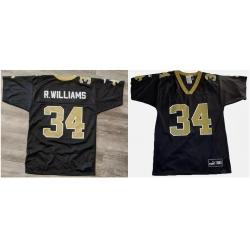 Men Puma ricky Williams new Orleans saints Black NFL Jersey