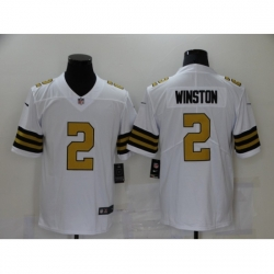Men's New Orleans Saints #2 Jameis Winston White Limited Jersey
