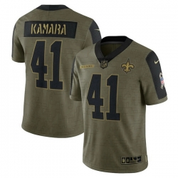 Men's New Orleans Saints Alvin Kamara Nike Olive 2021 Salute To Service Limited Player Jersey