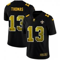 New Orleans Saints 13 Michael Thomas Men Black Nike Golden Sequin Vapor Limited NFL Jersey