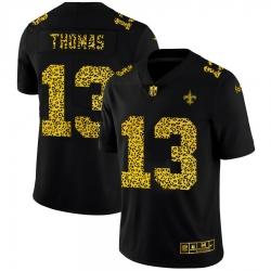 New Orleans Saints 13 Michael Thomas Men Nike Leopard Print Fashion Vapor Limited NFL Jersey Black