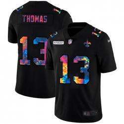 New Orleans Saints 13 Michael Thomas Men Nike Multi Color Black 2020 NFL Crucial Catch Vapor Untouchable Limited Jersey