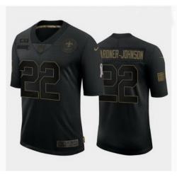 New Orleans Saints 22 Chauncey Gardner Johnson Black Salute to Service Jersey