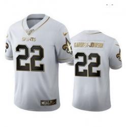 New Orleans Saints 22 Chauncey Gardner Johnson White Gold Jersey