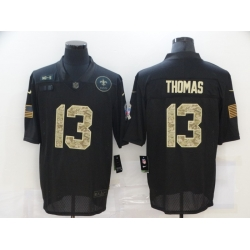 Nike New Orleans Saints 13 Michael Thomas Black Camo 2020 Salute To Service Limited Jersey