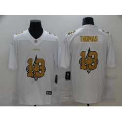 Nike New Orleans Saints 13 Michael Thomas White Shadow Logo Limited Jersey