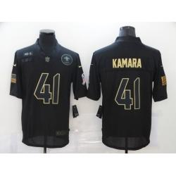 Nike New Orleans Saints 41 Alvin Kamara Black 2020 Salute To Service Limited Jersey