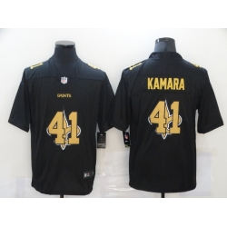 Nike New Orleans Saints 41 Alvin Kamara Black Shadow Logo Limited Jersey