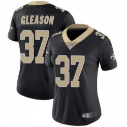 Women New Orleans Saints 37 Steve Gleason Black Vapor Limited Jersey