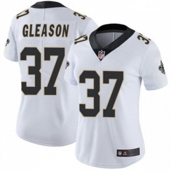 Women New Orleans Saints 37 Steve Gleason White Vapor Limited Jersey