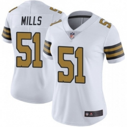 Women New Orleans Saints 51 Sam Mills Color Rush Limited Jersey