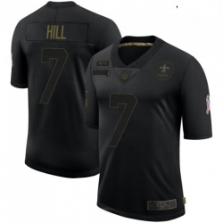 Youth New Orleans Saints 7 Taysom Hill Black 2020 Salute To Service Limited Jersey