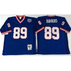 Men New York Giants 89 Mark Bavaro Blue M&N Throwback Jersey