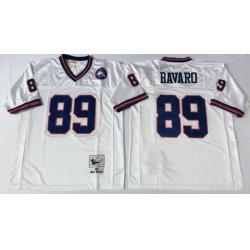 Men New York Giants 89 Mark Bavaro White M&N Throwback Jersey