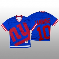 NFL New York Giants 10 Eli Manning Blue Men Mitchell  26 Nell Big Face Fashion Limited NFL Jersey